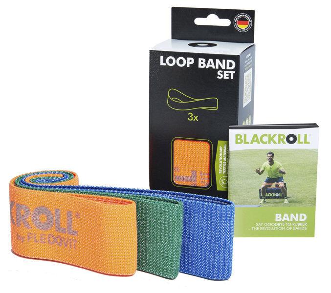 blackroll loop band set - elastici fitness - orange/green/blue