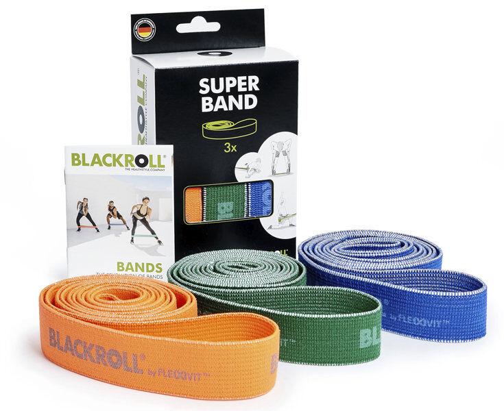 blackroll super band set - elastici fitness - orange/green/blue