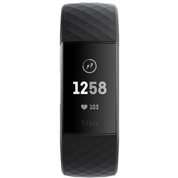 fitbit fb409gmbk-eu charge 3 smartwatch fitness tracker touchscreen bluetooth co