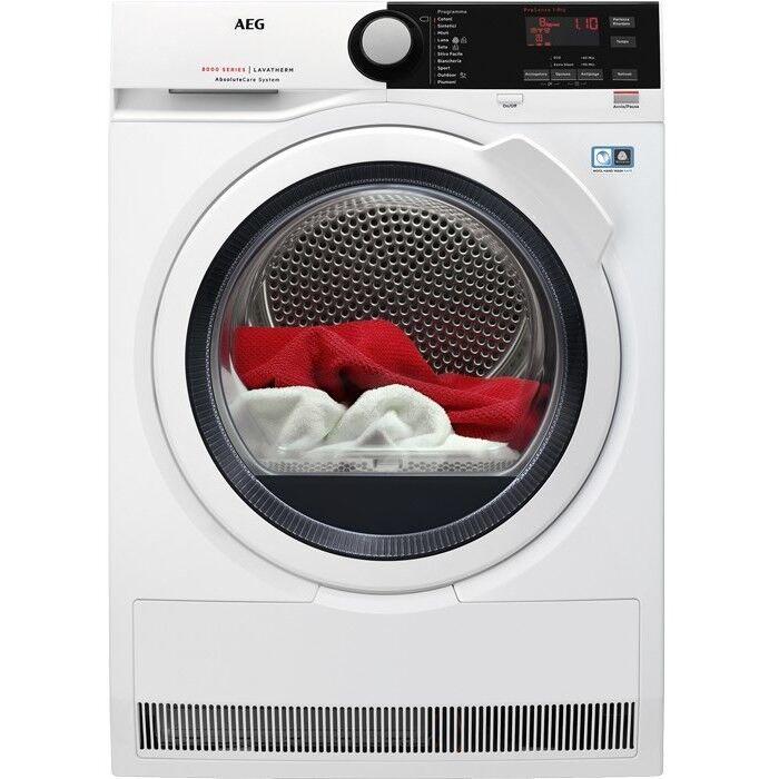 AEG T8dbe851 Asciugatrice A Pompa Di Calore 8 Kg Classe A+++ Colore Bianco