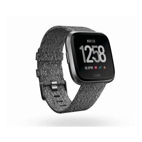 fitbit versa fb505bkgy-eu smartwatch con cinturino in tessuto bluetooth 4.0 colo