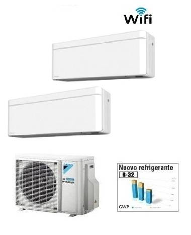 Daikin Climatizzatore Dual Stylish 2mxm50m9 + Ftxa25aw/s/t + Ftxa35aw/s/t Wi-Fi 9+12