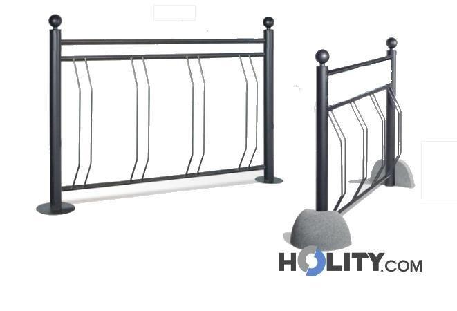 porta bici verticale con supporti in cemento h19140