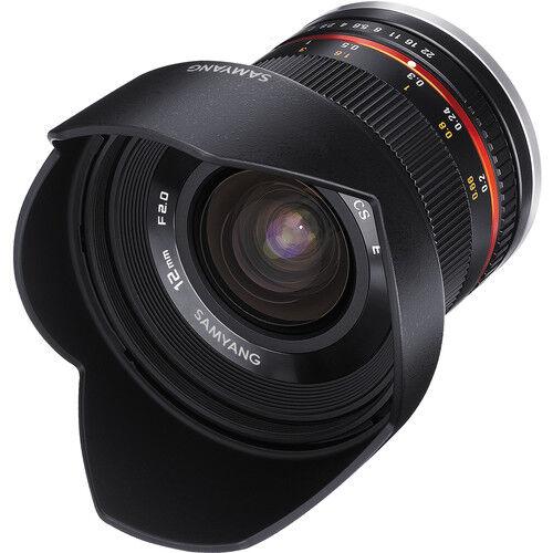 SAMYANG 12mm F/2.0 NCS CS - Micro 4/3 - NERO - 2 Anni Di Garanzia
