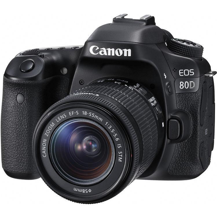 Canon EOS 80D + 18-55mm F/3.5-5.6 IS STM MAN. ITA - 2 Anni di Gar. In Italia - Pronta Consegna