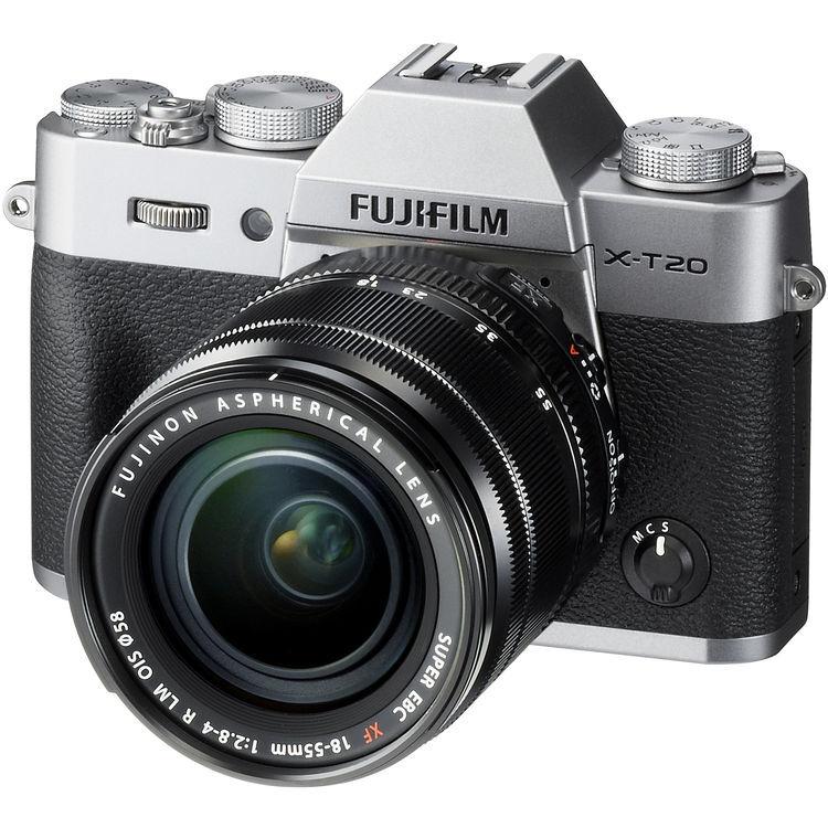 Fujifilm X-T20 + 18-55mm F/2.8-4 XF R LM OIS - Argento - MANUALE ITA - 4 Anni Di Garanzia IN ITALIA