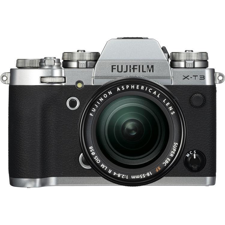 Fujifilm X-T3 ARGENTO + 18-55 F/2.8-4 R LM OIS - MANUALE ITA - 4 Anni di Garanzia in Italia