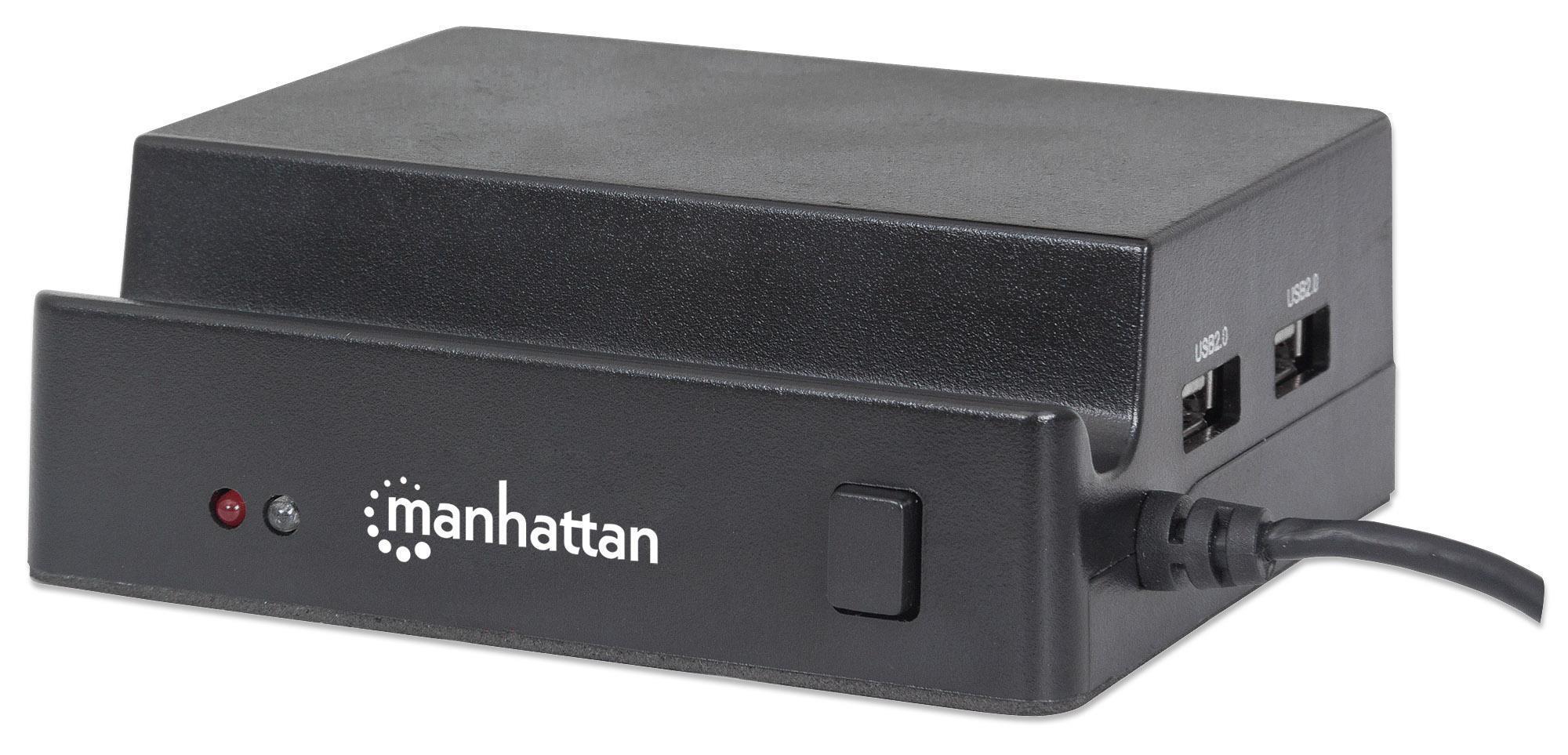 Manhattan Docking Station 3 Porte USB Ricarica Smartphone e Tablet OTG Nero