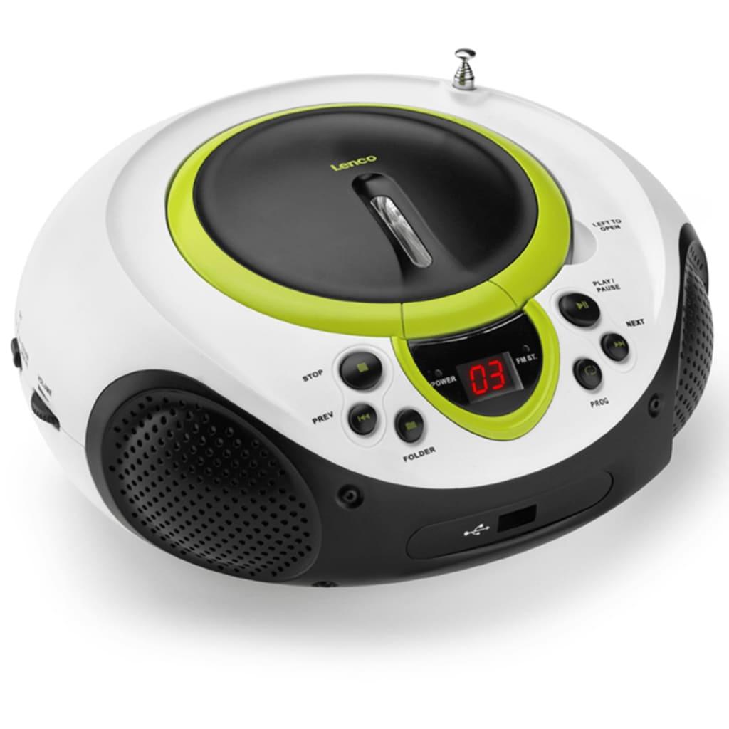 lenco radio met cd speler rood zilverkleur