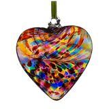 Sienna Glass 8cm Friendship Heart, Multicoloured Multi