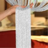 TRIXES Dew Drop Silver String Door Divider and Window Curtain Panel...