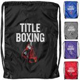 Title Boxing Sack Pack Lightweight Nylon Double-Drawstring Bag Purp...
