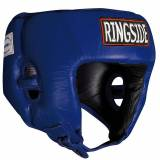 Ringside Competition Boxing Headgear Without Cheeks - Blue M