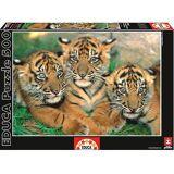 Educa 500 stykker liten Tigers (babyer og barn, leker, brettspill)