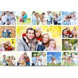 Optimalprint Postkort, 15 bilder (fotocollage), A5, flatt, Optimalprint