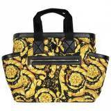 Versace Baroque Changing Bag Gold and Black