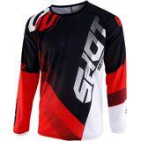 Shot Devo Ultimate Motocross Jersey Svart Hvit Rød S