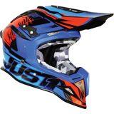 Just1 J12 Dominator Motocross hjelm Rød Blå XS