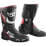 Berik Shaft 2.0 Motorsykkel støvler Svart Rød 46