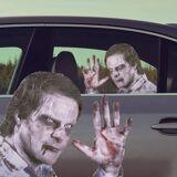 Ride With a Zombie Klistremerke til Bil Få en berømt passasjer i baksetet!