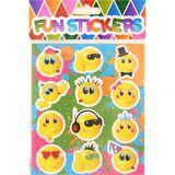 12 stk Emoji Klistremerker