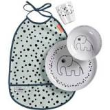Done By Deer Dinner Set Happy Dots Blue