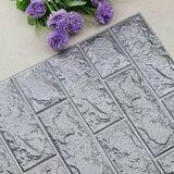 Veggdekorasjon/Wall Sticker Murstein 70cm x 77cm Sølv/Grå 2-pack