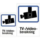 24hshop Plastskilt, TV/Video-bevakning