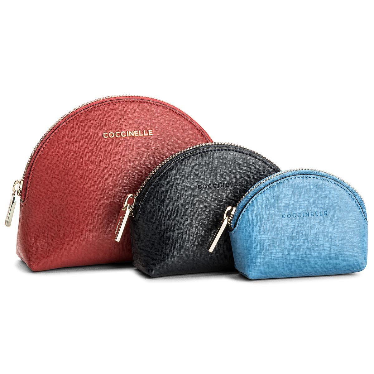 Zestaw kosmetyczek COCCINELLE - BV0 Trousse E5 25 B0 05 Coque/Bleu/Azur 493