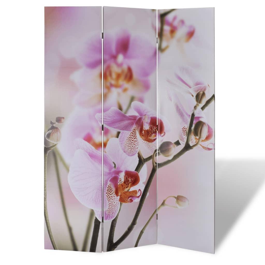 vidaXL Parawan/dzielnik pokojowy w kwiaty (120 x 180 cm)