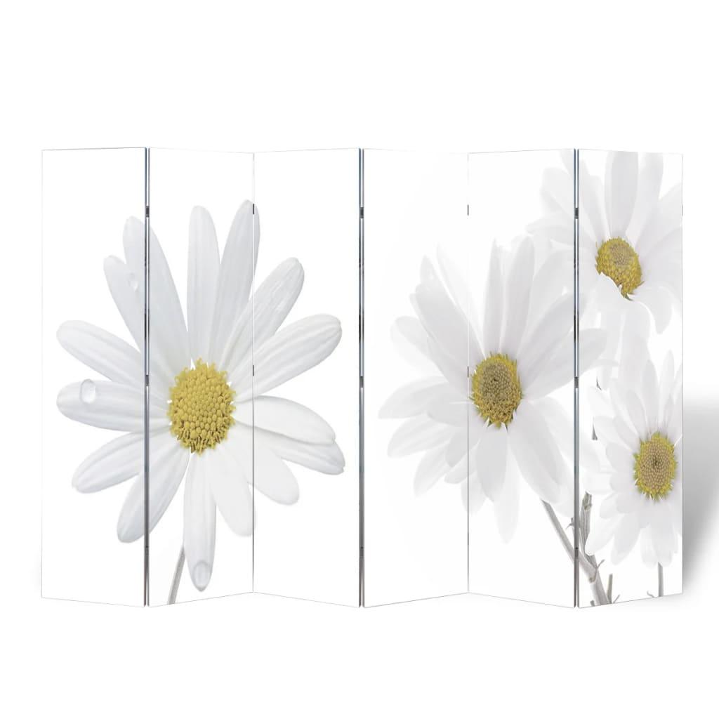 vidaXL Parawan/dzielnik pokojowy w kwiaty (240 x 180 cm)