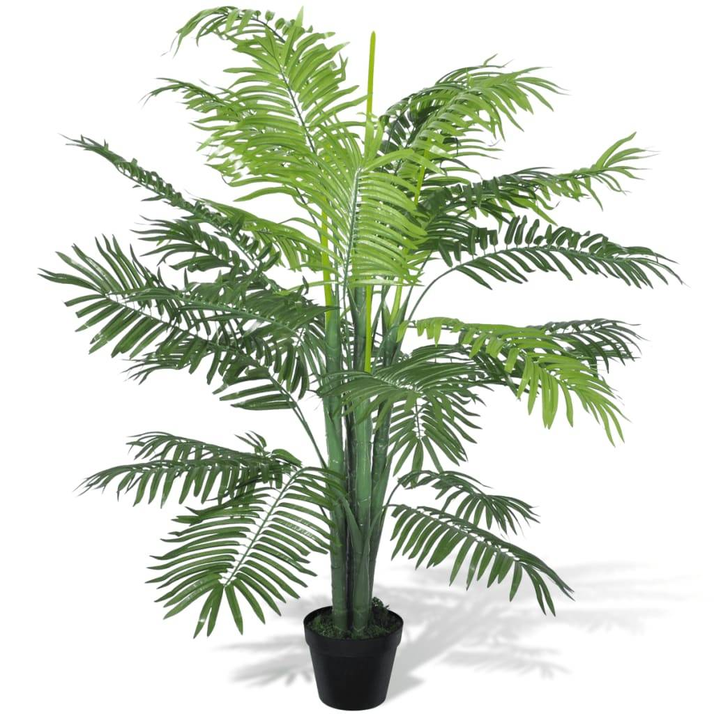 vidaXL Sztuczna palma z donicą 130 cm