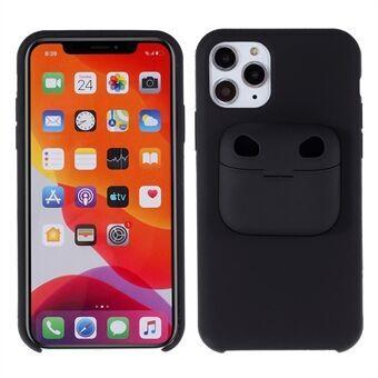 Stötsäker silikon mobiltelefon skal med AirPods fodral för iPhone 11 Pro Max 6,5 tum / AirPods Pro