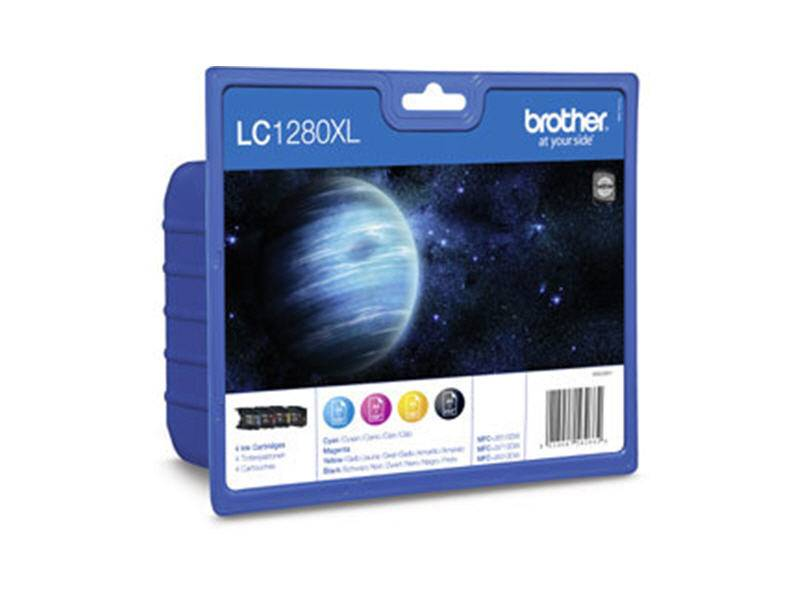 Brother LC1280XLVALP - Brother Value Pack Incl BK/C/M/Y bläckpatron High Capacity