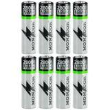Uppladdningsbara AA batterier - NIMH-2800/4AA 2-pack.