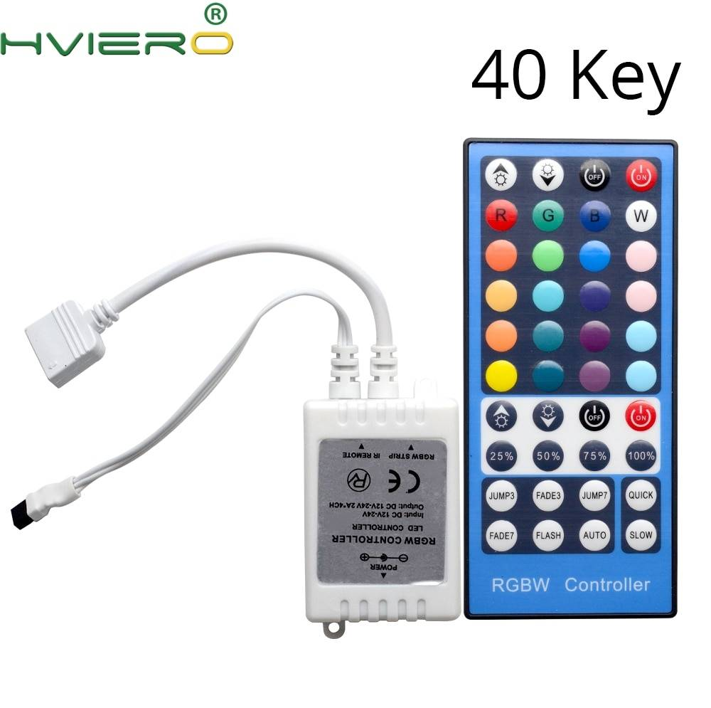 DC 12V-24V LED 40key RGBW RGBWW Controller Dimmer 40 Keys Remote Receiver Controller For 5050 3528 2835 3014 SMD LED Strip Light