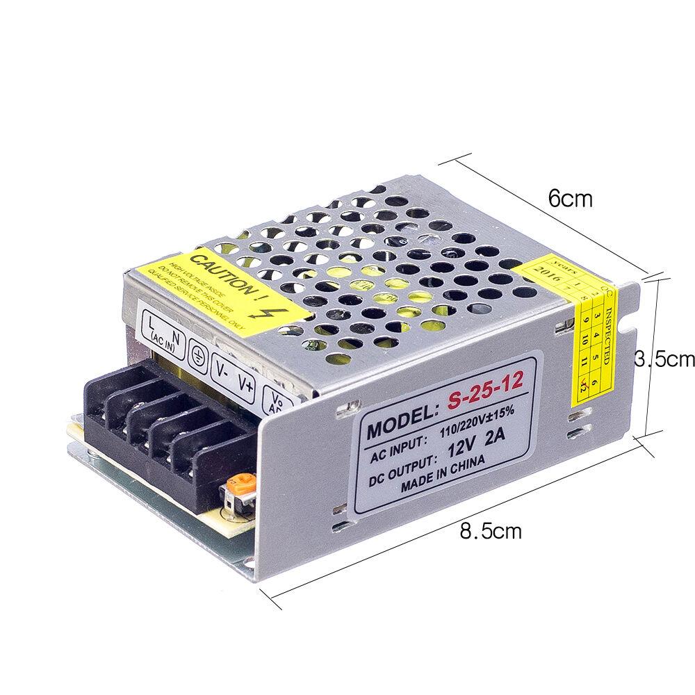 OSIDEN LED Strip light Power Adapter Supply SMD 5050 3528 1A 2A 3A 5A 8A 12A 15A 20A 30A 40A AC110V-265V to DC12V Transforme