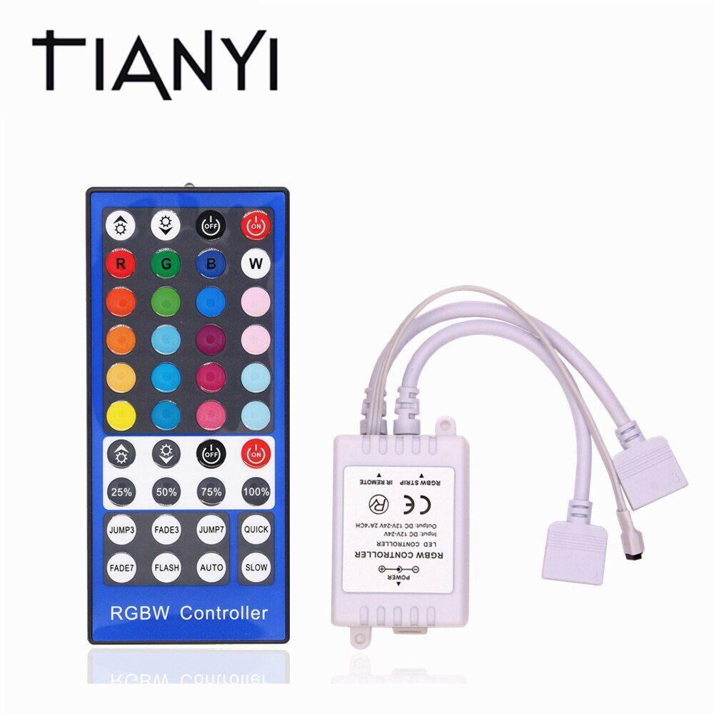 RGBW LED Controller Dimmer 4 Channels DC 12V - 24V 5Pins IR 40Key Remote Control For 5050 RGBW RGBWW LED Strip Light Flexible