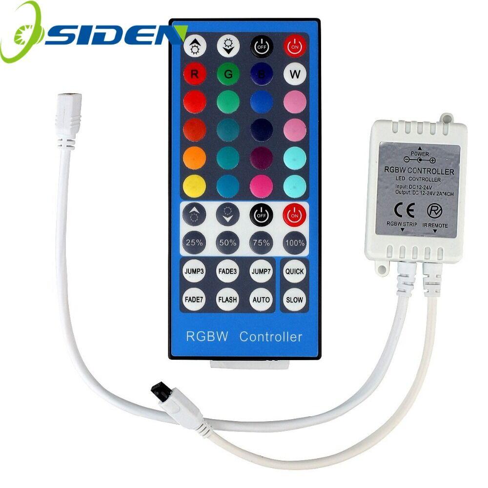 Conntroller 40Key Strip RGBW/RGBWW SMD 5050 LED Strip Light DC 12V 24V 6A IR Infrared Remote Controller Dimmer 20 Colors