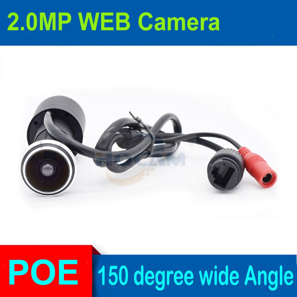 1080P POE HD Indoor Door Eye Hole Color IP Home Door ip Camera 140 degrees Surveillance Network Vedio Camera Support Onvif