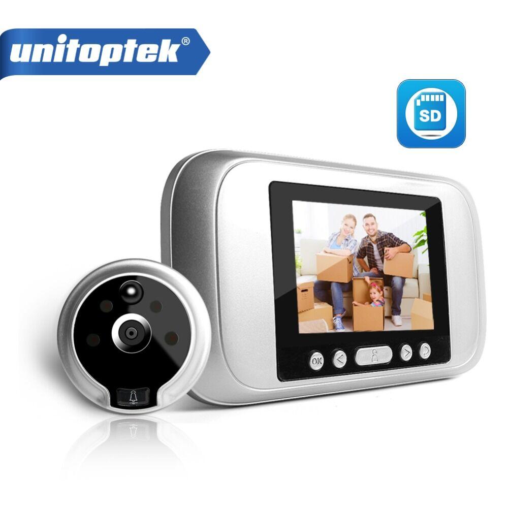 """3.2"""" LCD Digital Peephole Viewer PIR Door Eye Doorbell Video Intercom HD 720P 960P IR Camera Night Vision PIR Motion Detection"""