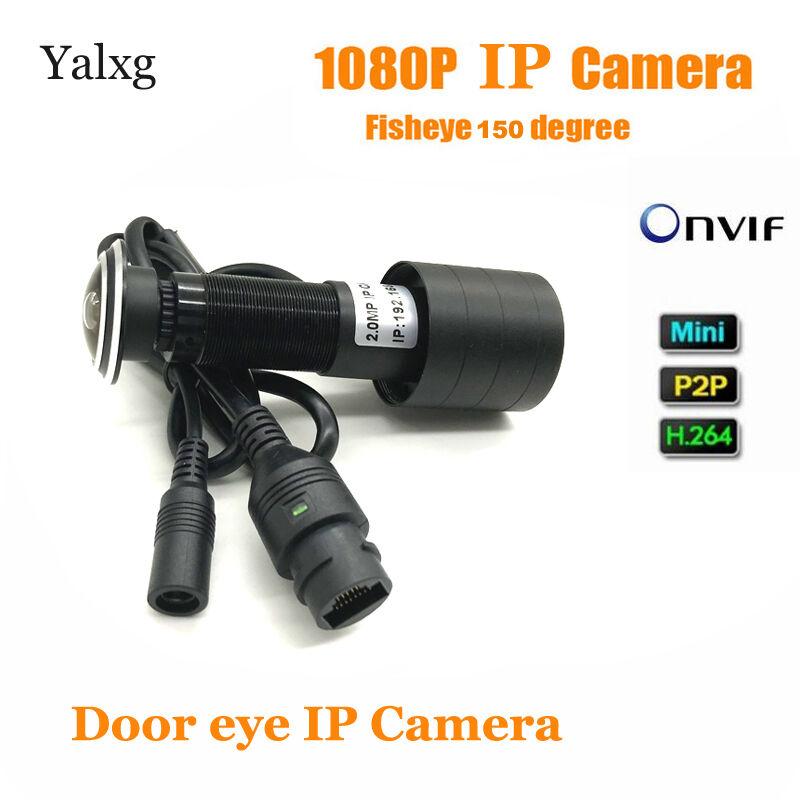 2MP 1080P HD Indoor Door Eye Peephole IP Home Security Motion Sensor Camera 150 Degrees Surveillance Vedio Camera Support Onvif