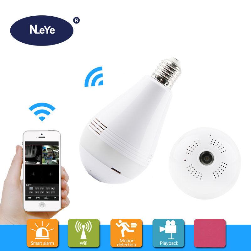 N_eye Bulb Lamp Camera HD 1080P 360 Degree Panoramic Professional IP Camera Home Indoor Security Led Light Wifi CCTV Camera P2