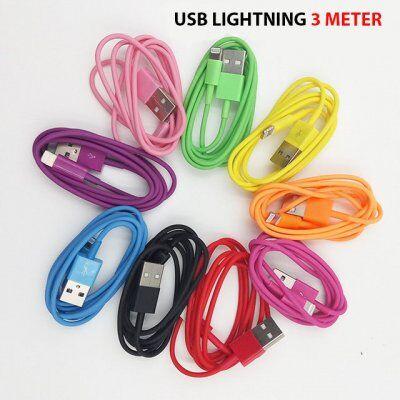James Zhou USB lightning kabel som passar iPhone 5/6/7 ipad 4 air (Blå)