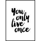 Bildverkstad You only live once (21x29,7 cm (A4))