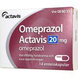 Actavis Omeprazol Actavis kapsel 20 mg, 14 st