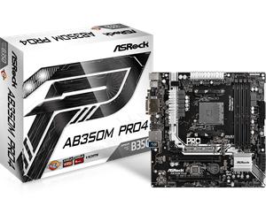 ASRock AB350M Pro4, AMD B350 Mainboard - Sockel AM4
