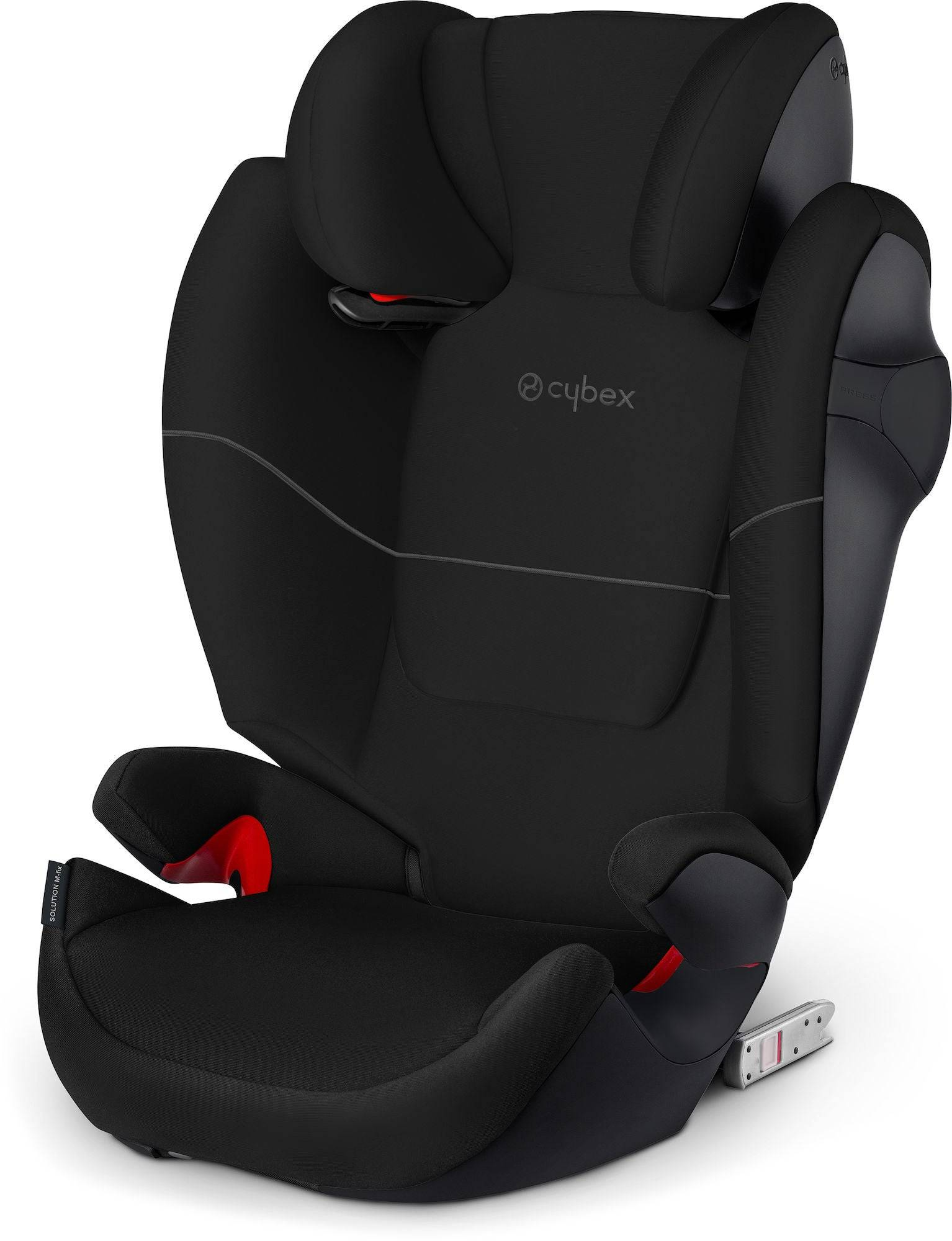 Cybex Solution M-Fix Bältesstol, Pure Black