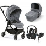 Baby Jogger City Tour Lux Duovagn, Slate + Maxi-Cosi Cabriofix Travelsystem