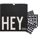 Design Letters Väggkalender 2020, Black